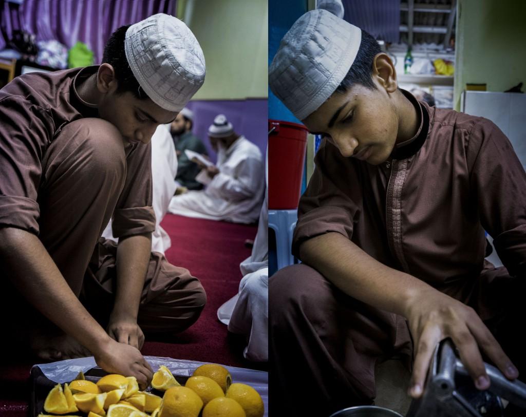 除了青檸水外,Haris還會準備大量水果,讓缺水大半天的穆斯林從身心都獲得支持。